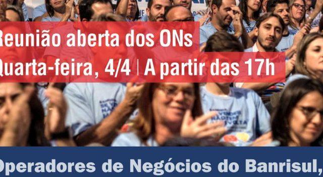 ONs do Banrisul, quarta, 4/4, tem reunião aberta sobre RV3. ...