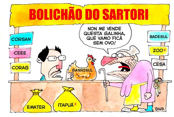 Sartori nem esconde mais entreguismo ao vender nova remessa de ...