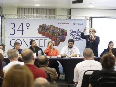 Painel do 34º Conecef sobre Caixa 100% pública é marcado por debates e lançamento de livro