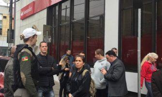 Polícia identifica suspeito de assalto ao Santander em N. Hamburgo, ocorrido no dia 06