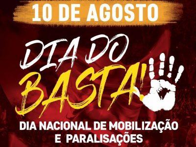 CUT-RS e centrais definem paralisações e manifestações no Dia do Basta em Porto Alegre