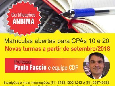 SindBancários abre prazo para matrículas em cursos preparatórios às certificações CPA 10 e CPA 20