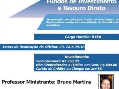 Inscrições abertas para oficina de investimento e Tesouro Direto em outubro