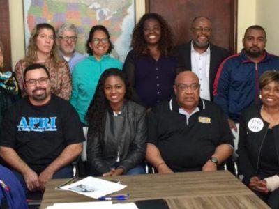 Contraf-CUT debate sobre questões raciais com delegação estadunidense