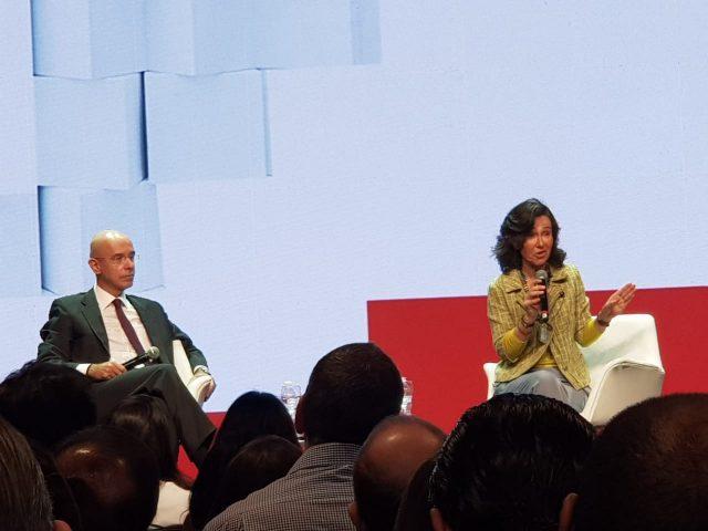Discurso da presidenta global do Santander não contempla trabalhadores