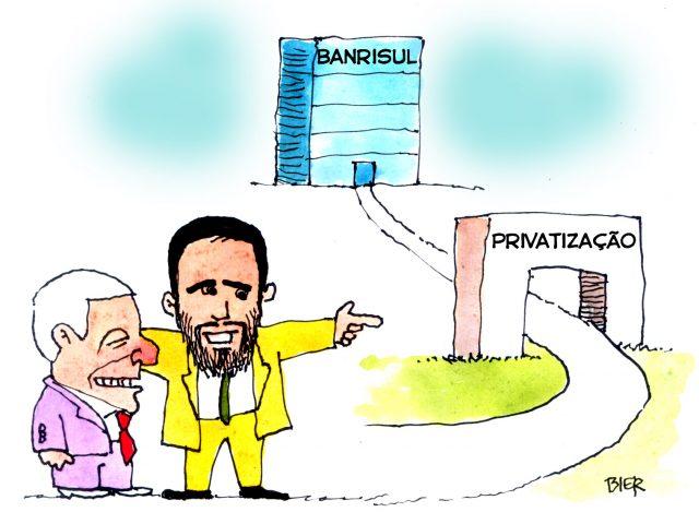 Leite segue com desmonte do Banrisul público