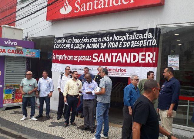 Santander demite empregado com mãe em coma