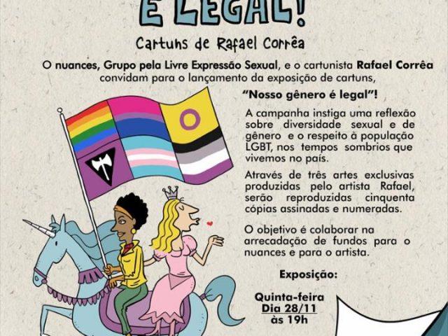 Mostra de cartuns discute gênero e liberdade sexual