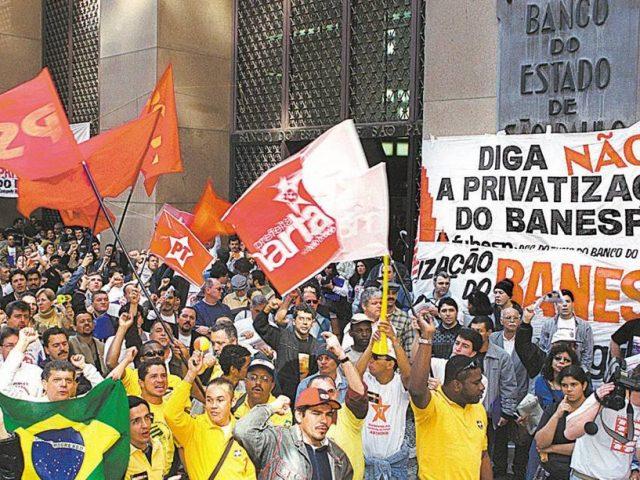 Bancários lembram os 19 anos da privatização do Banespa