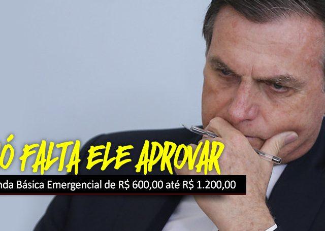 Paga logo, Bolsonaro