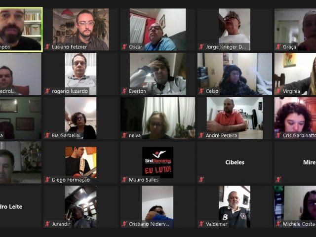 Formação de delegados: SindBancários realiza encontro virtual