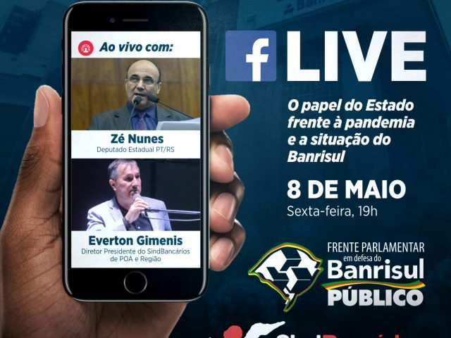 Live debate papel do Banrisul na pandemia