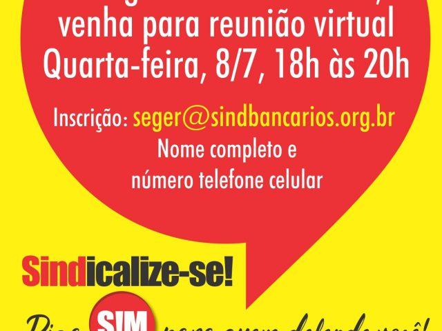 Colegas do Santander, venham para reunião virtual