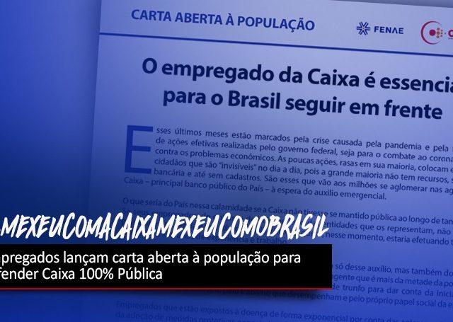 Carta aberta defende Caixa 100% pública