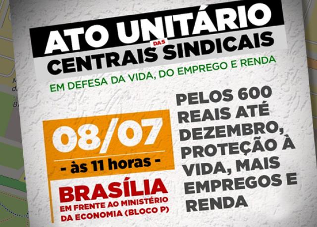 Brasília: Centrais sindicais fazem ato pela preservação da ...