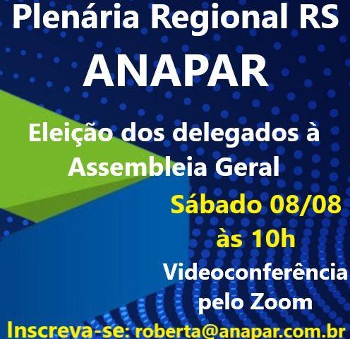 Sócios da ANAPAR têm Plenária Regional neste ...