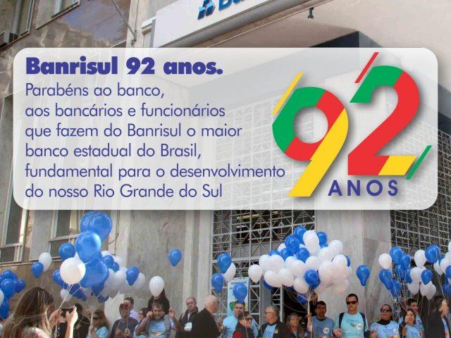 Banrisul celebra 92 anos de história e serviços prestados ...