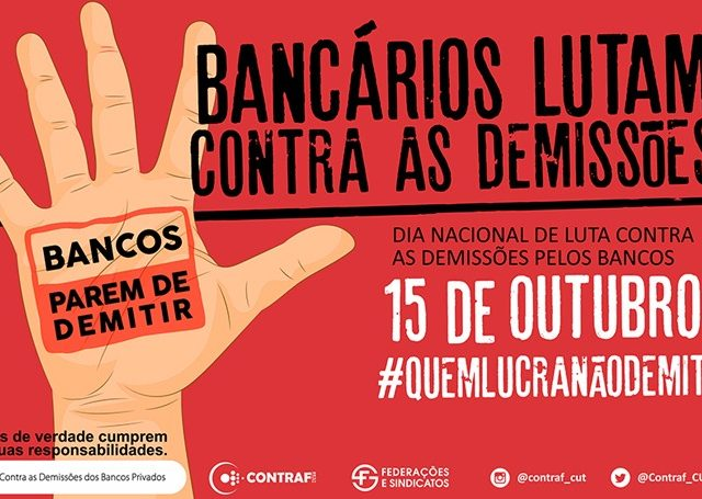 Dia Nacional de Luta: bancários protestam contra demissões