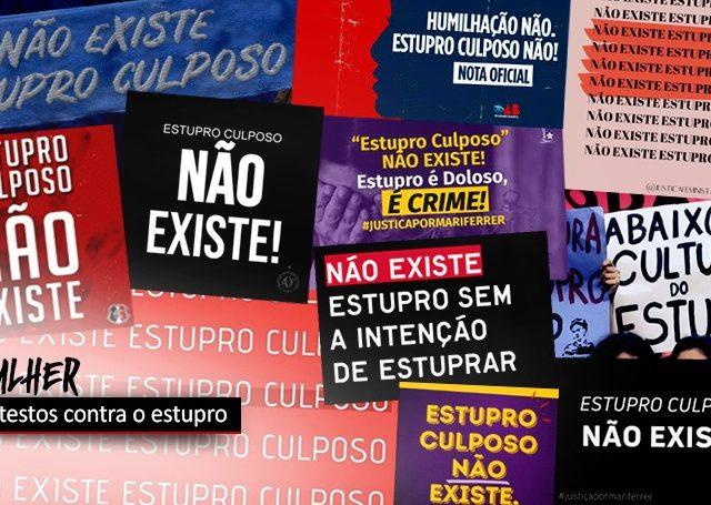 """""""Estupro culposo"""" em SC tem protestos em várias cidades"""
