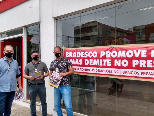 Bancários denunciam demissões no Bradesco na Zona Norte ...