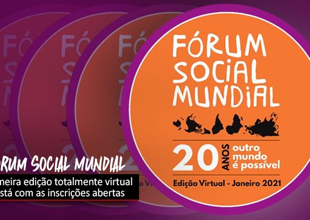 Fórum Social Mundial Virtual já tem inscrições abertas