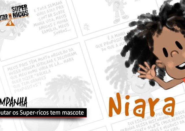 """Conheça """"Niara"""", mascote da campanha para Tributar os Super-ricos"""