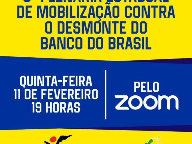 Plenária debate mobilização contra reestruturação no BB ...