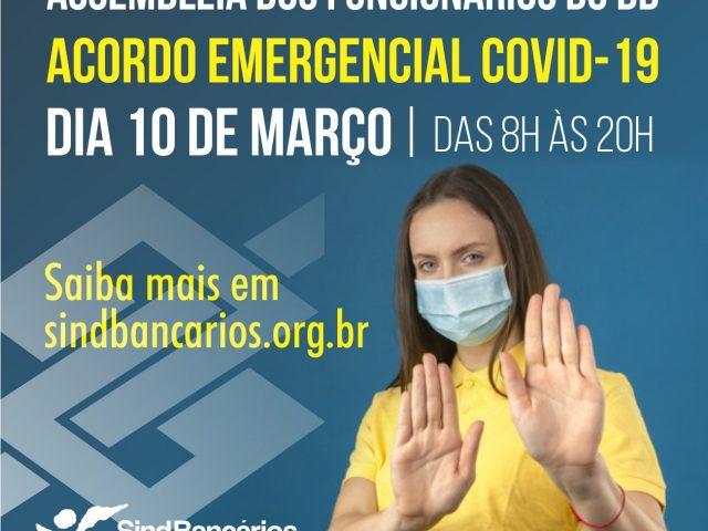 Assembleia na quarta-feira delibera sobre acordo emergencial da pandemia no ...