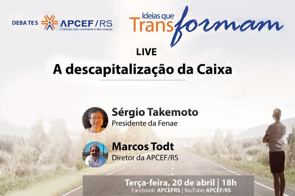 Presidente da Fenae debate descapitalização da Caixa, em live ...