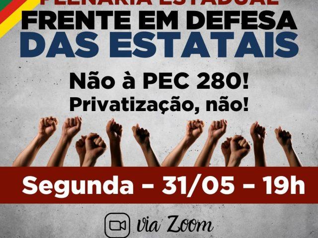 Frente em Defesa das Estatais faz Plenária Estadual nesta ...