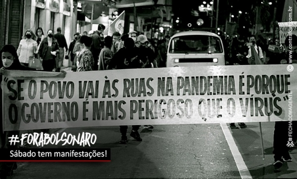 Sábado tem manifestações 'Fora Bolsonaro!' em todo o ...