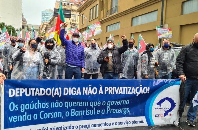 Trabalhadores da Corsan fazem paralisação contra privataria do governo ...