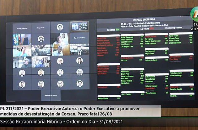 Assembleia aprova privatização da Corsan