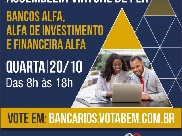 Financiários(as) decidem sobre PLR no Grupo Alfa em ...