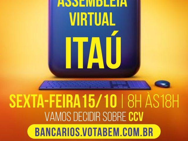 Assembleia virtual decide sobre CCV no Itaú