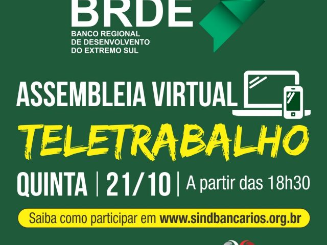 SindBancários convoca funcionários do BRDE para assembleia