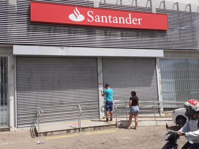 Fechamento de agência do Santander por Covid-19 serve de ...