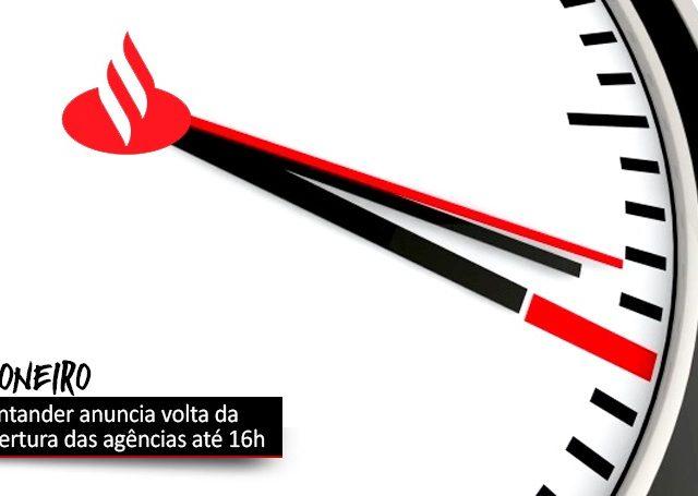 Santander volta ao atendimento presencial até 16h, apesar da pandemia